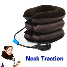 inflatable air cervical neck traction neck support soft brace device unit for headache head back shoulder neck pain Popular Inflatable Neck Cervical Vertebra Traction Soft Brace Device Unit for Headache Head Back Shoulder Neck Pain Health Care