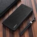 Стильный Магнитный Флип-бумажник чехол для Samsung Galaxy S20 Ultra S5 NEO S6 S7 edge из углеродного волокна Кожаный чехол S10 S9 S8 Plus Мягкий