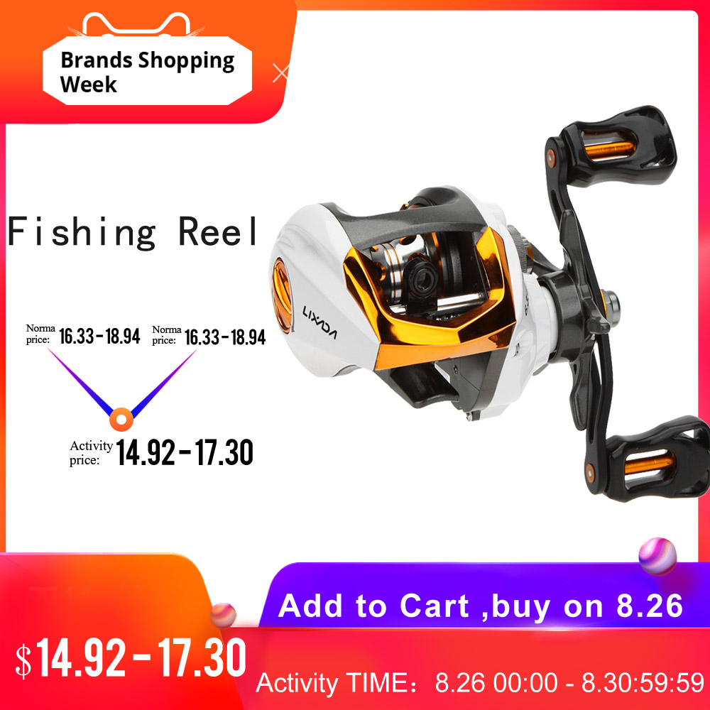 Lixada Fishing-Reel Magnetic-Brake-System Fly-High-Speed Ball-Bearings With For Pesca