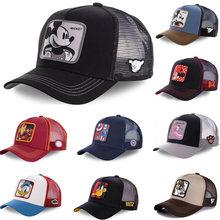 Nouvelle marque Disney Minnie Mickey Snapback coton casquette de Baseball hommes femmes Hip Hop papa maille chapeau camionneur chapeau livraison directe