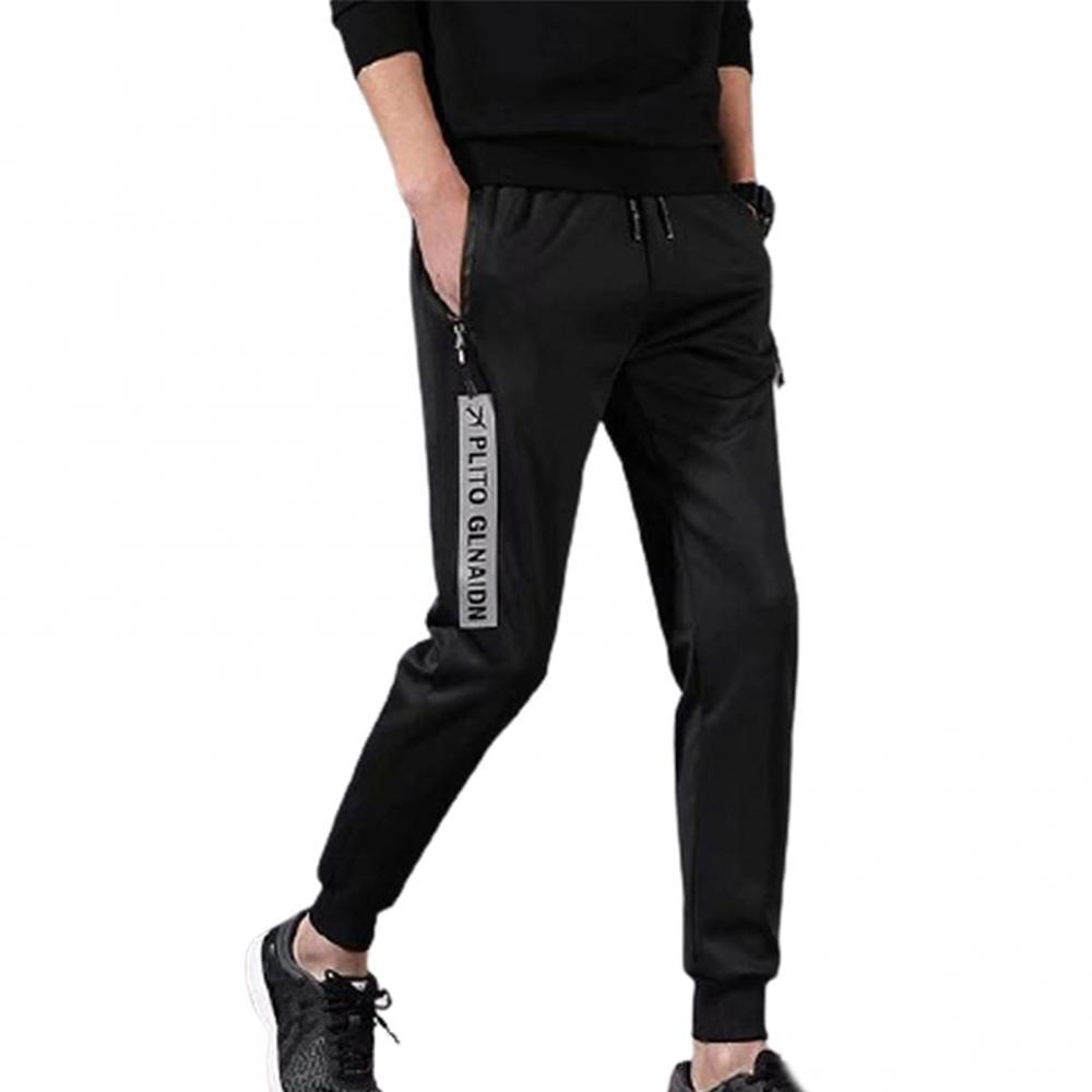 Men Casual Sweatpants Fall Winter Thick Casual Harlan Pants Elastic Waist Lace-up Sports Trousers Streetwear Cargo Pants
