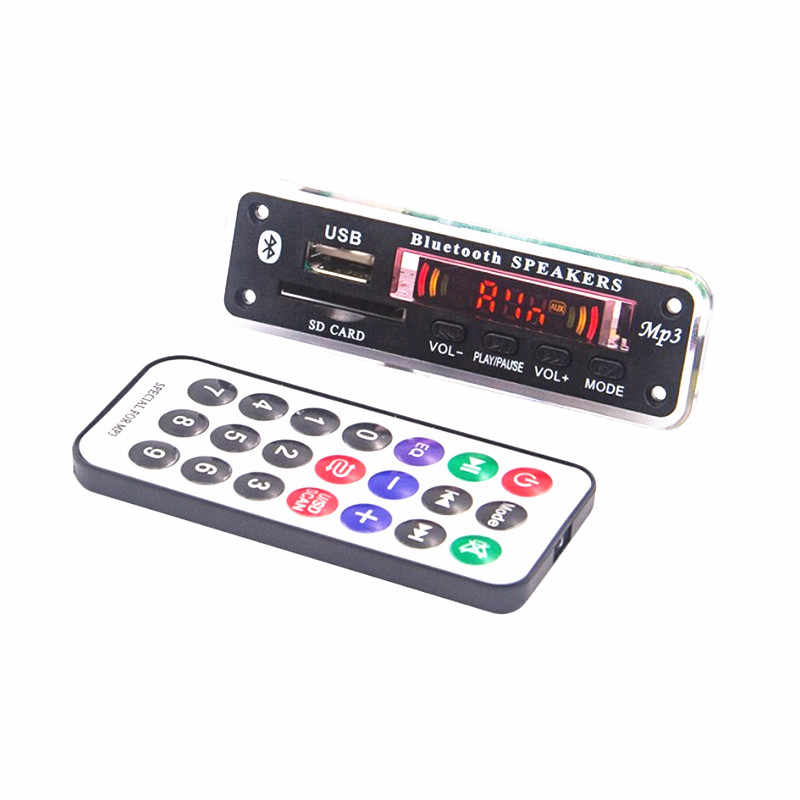5 فولت 12 فولت MP3 سماعة لاسلكية تعمل بالبلوتوث مجلس فك وحدة صوت دعم USB SD AUX FM الصوت راديو مشغل موسيقى وحدة اكسسوارات السيارات