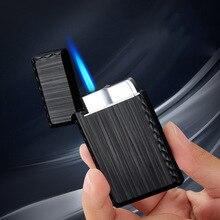 Torch Turbo Lighters Metal Gas Lighter Jet Butane Grinding Wheel Cigarettes Accessories Cigar Smoking Lighters недорого