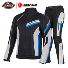 Scoyco Motorjas Zomer Moto Jacket Body Armor Reflecterende Motocross Jas Ademend Riding Racing Bescherming Voor Mannen(China)