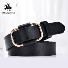 NO.ONEPAUL New fashion designer design ladies luxury brand belt authentic leather trend retro punk student youth belts