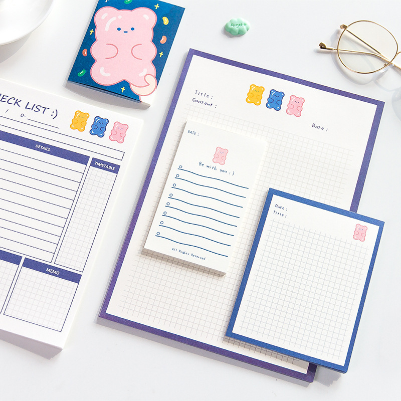 30 Sheets Ins Toto List B5 Notes Schedule Planner Memo Pad N Times Notes Bookmark School Office Supply Student