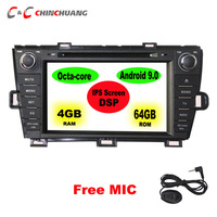 1280 x 720 Super HD IPS Screen 64GB DSP Octa Core Android 9.0 Car DVD Player for Toyota Prius 2009 2013 Radio GPS Navigation DVR