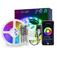 20 Meters 400 Lights 24V Graffiti Smart Music Light Music Light Color Changing USB Cable WIFI Music Controller Remote Control