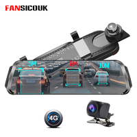 FANSICOUK 3G/4G ADAS Android Car Dvr 10'' Stream Media Rearview Mirror Dash Camera GPS FM Video Recorders Free 32GB SD Card 787
