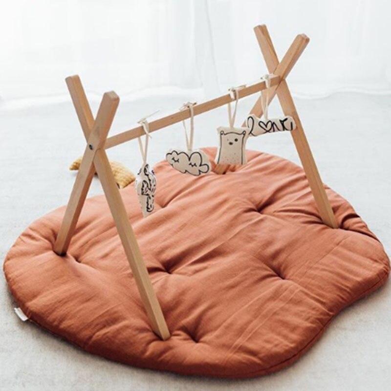 Apple forma bebê jogar tapete da criança crianças rastejando cobertor de algodão macio almofada playmat infantil fotografia adereços decoração da sua casa
