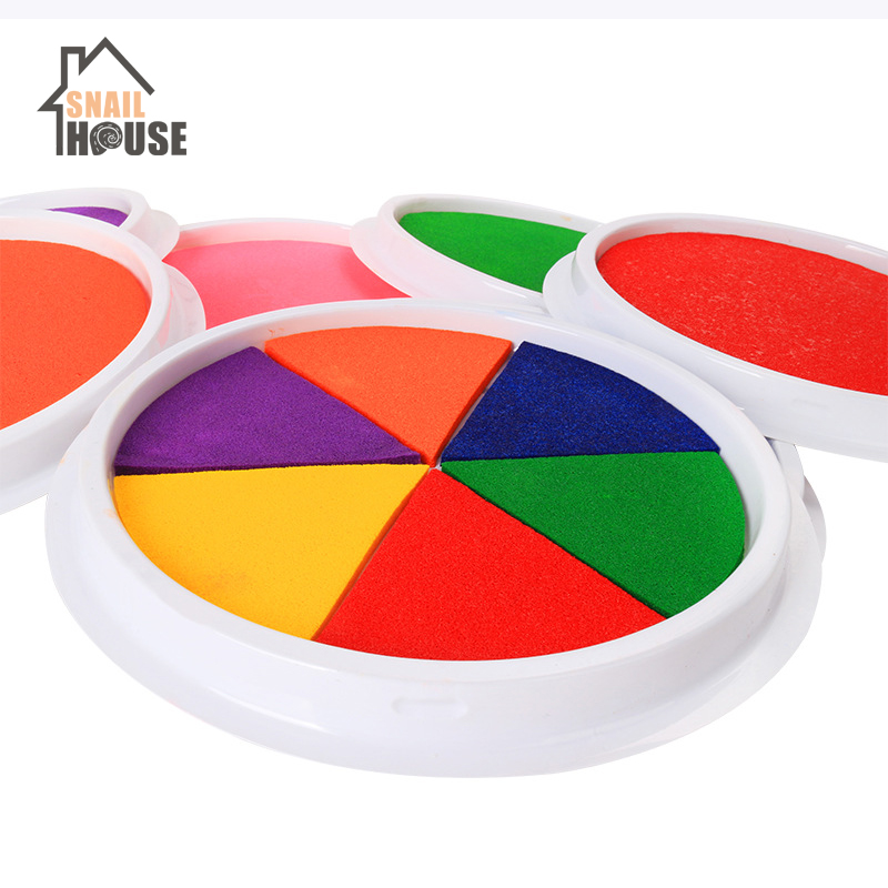 Snailhouse Non-toxic Inkpad Craft Oil Based DIY Ink Pads Sponge Stamps Fabric Scrapbook Decor Fingerprint Seal Pad Drawing Toys