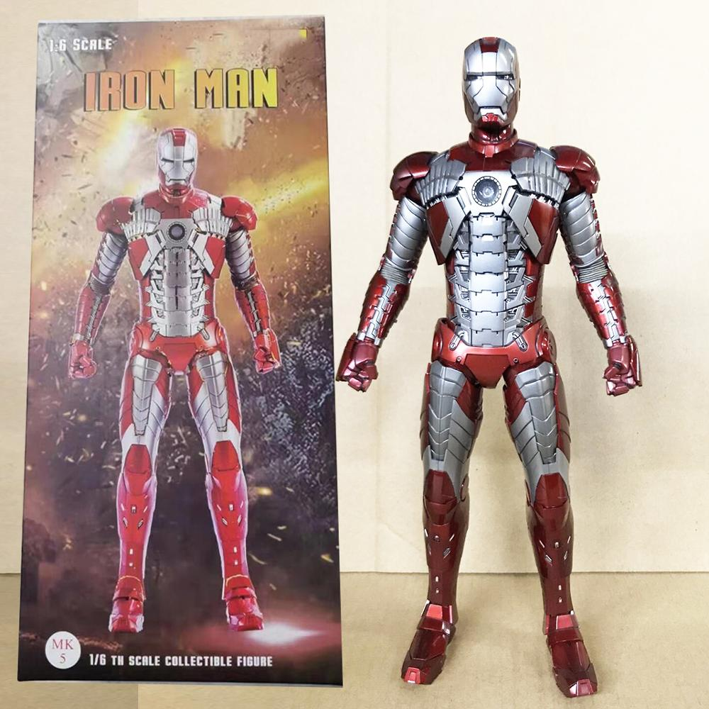 12inch 30cm Empire Iron Man Action Figure Toy 1/6th Scale Painted Iron Man MK5 Mark V Collectible Model Action Figure Gift