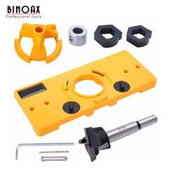 BINOAX 35mm ukryty zawias do szafki Jig frez do drewna lokalizator wiertła do Kreg Guide Tool