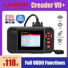 Launch X431 Creader vii + OBD2 스캐너 ENG ABS 에어백 AT 자동 코드 리더 스캐너 OBDII 진단 도구 자동차 스캐너 7 +