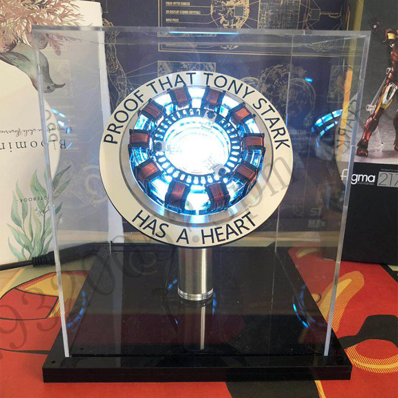 In Stock New Iron Man Cosplay Arc Reactor DIY Action Figure Toy Collection Model Assembled Lamp Toys For Children