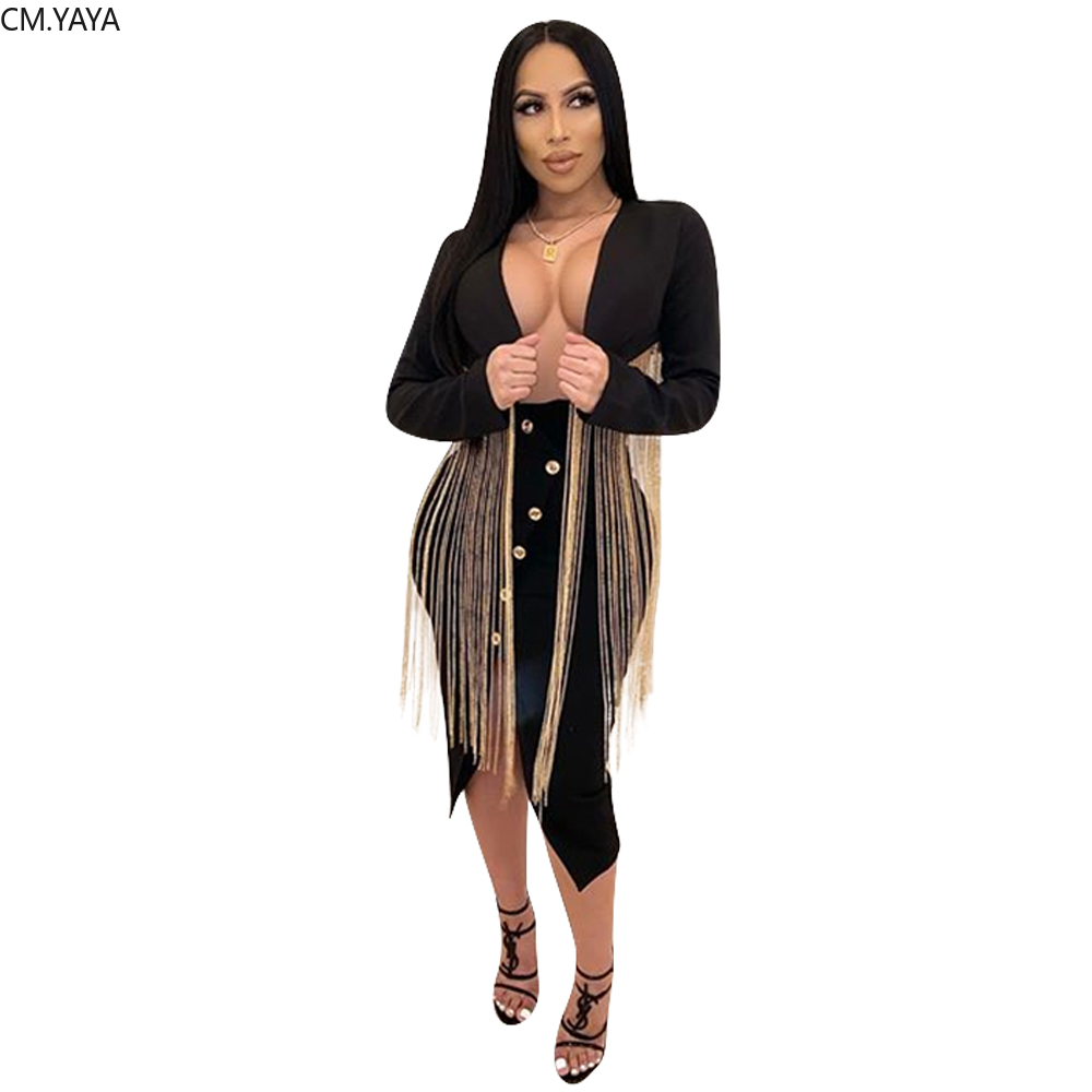 2020 New Winter Women Notched Full Sleeve Solid Tassel Blazers Plus Size Office Lady Outfit High Street Crop Coats GL735