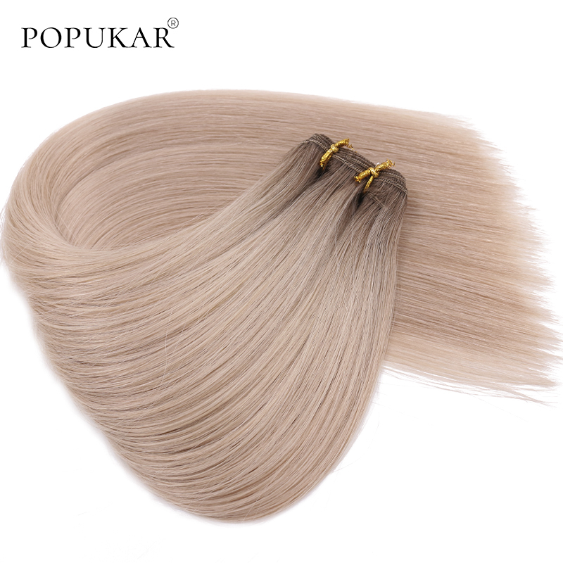 Popukar 12A Top Quality Double Drawn Ombre Brazilian Hair Bundle 100g Straight Weave Remy Human Hair Weft