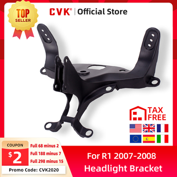 CVK Headlight Bracket Motorcycle Upper Stay Fairing For YAMAHA YZF 1000 R1 2007 2008 YZF-R1 07 08 Parts free shipping upper fairing stay bracket for yamaha r6 2006 2007 r6s 2006 headlight fairing stay bracket