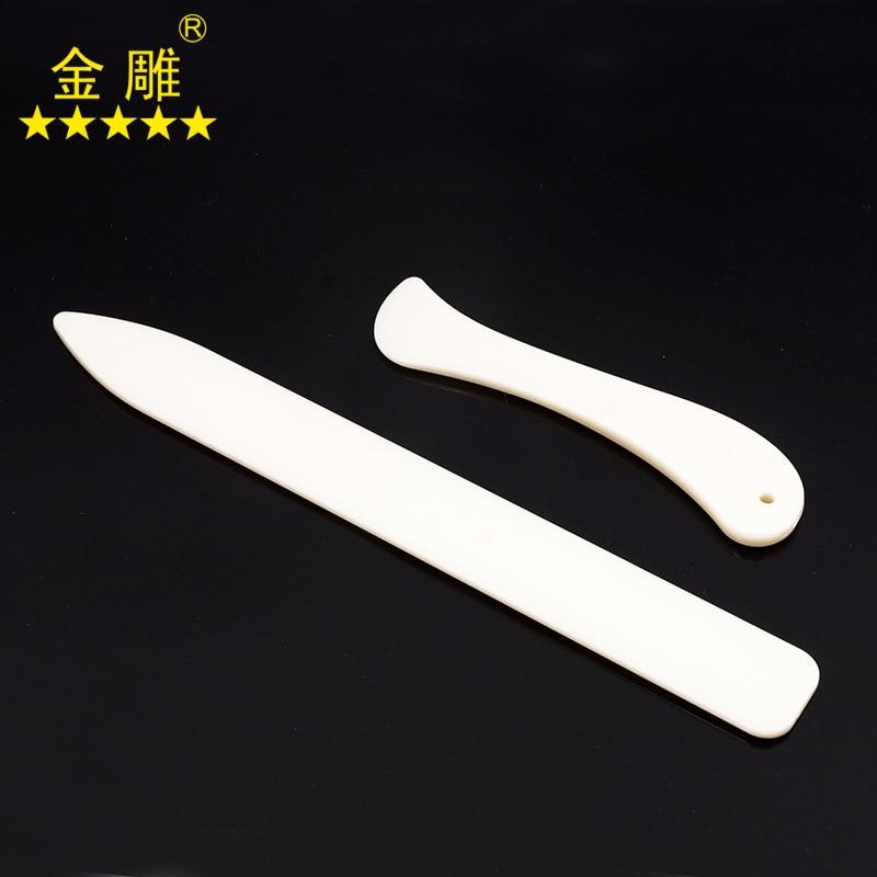 White Faux Bovine Bone Plastic Edger Pressure Cable Edge DIY Leather Tool Bone-Color Paper Folding Knife