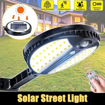 35W 70 LED Solar Light Outdoor Solar Street Light Wireless PIR Motion Sensor Wall Light Waterproof Solar Powered Light Remote image