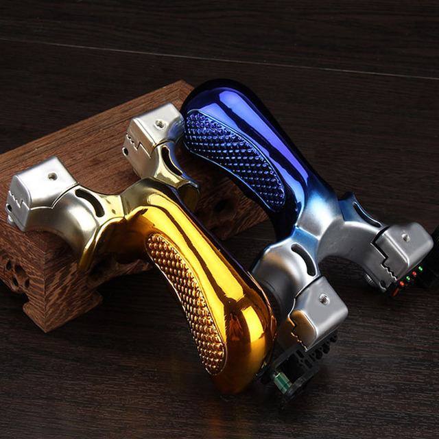 2019 new style Big power high precision new outdoor hunting slingshot Laser aiming slingshot using flat rubber band 4