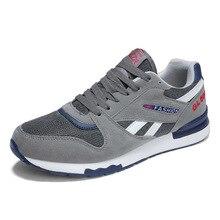 Marca nueva tendencia de gran tamaño zapatos de los hombres zapatillas de deporte transpirables Zapatos de tejido de malla al aire libre zapatos de caminar para hombre, negro, gris, zapatos deportivos