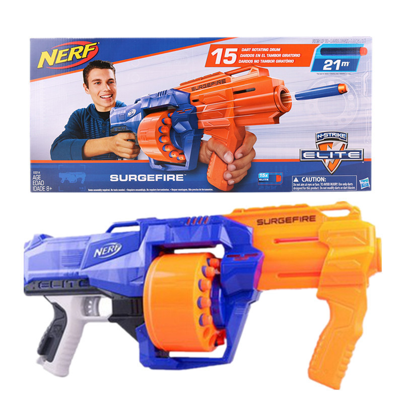 Hasbro Nerf Gun ELITE SURGEFIRE Soft Bullet Submachine Gun Boy Toys For Children