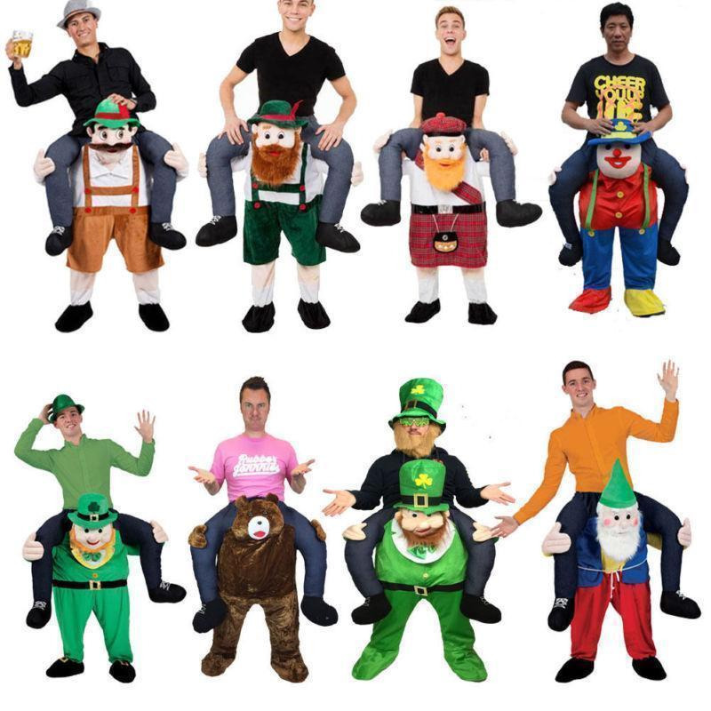 Adult Child Novelty Ride on Me Mascot Costumes Carry Back Fun Pants Party Cosplay Clothes Horse Riding Toy
