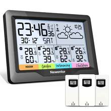 Newentor Q5 Professional Weather Station Wifi Indoor Outdoor Digital Forecast Hygrometer Humidity Temperature Display 3 Sensor