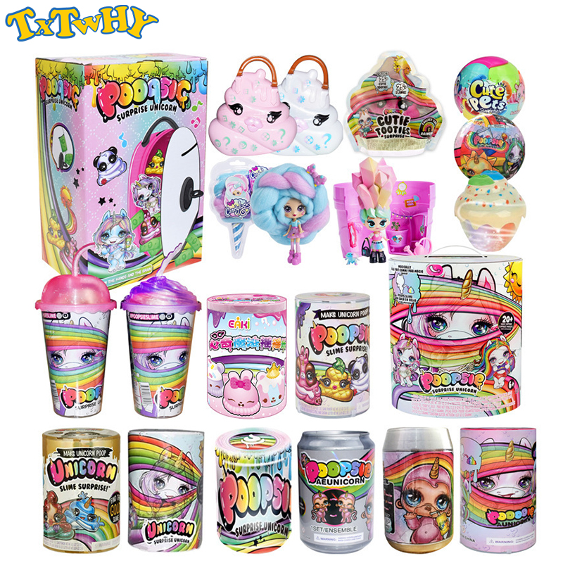 Poopsie Slime Decompression Unicorne Soft Clay Doll Shiny Rainbow Crystal Mud Rocking Childrens Compressible Kid Toys