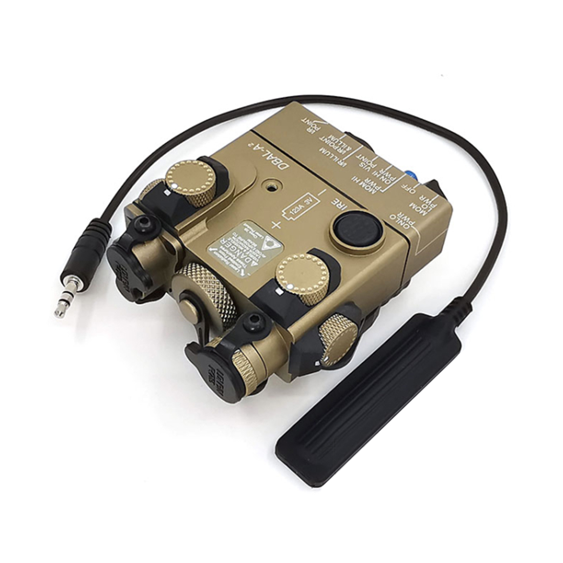 SoTac Night Vision IR PEQ15 dbal <font><b>a2</b></font> Laser Sight Aimed Battery <font><b>Box</b></font> Tactical Equipment - Tan IR Infrared Fill <font><b>Light</b></font> Version image