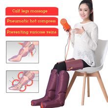 Electric Air Compression Leg Massager Relaxation Foot Massage Machine Wraps for Body Legs Ankles Calms Tired Soothes Muscle