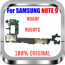 100% Original Unlocked For Samsung Galaxy Note 9 N960F N960FD Motherboard, Mainboard note 9 Logic Boards replace, Good working