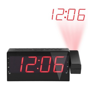 USB Multifunctional Projection Alarm Clock Digital Date Snooze Function Backlight Projector Desk Table Led Clock Time Projection