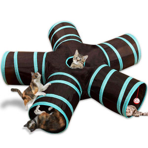 5 Holes Foldable Pet Cat Tunne