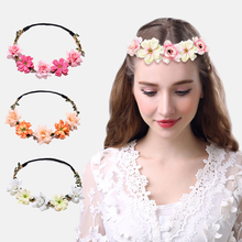Floral Crown Fashion Flower Headband for girls Holiday Outside Wedding Hair accessories crown elegant women