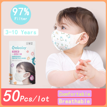 5Pcs Kids Face Filter Mask High Quality Disposable Nose Facemask 3-Ply Protective Anti PM2.5 Safety Masks For Children/Babies