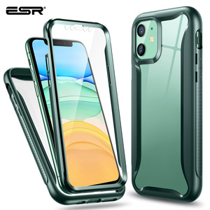 Image 1 - ESR étui de téléphone pour iPhone 11 Pro Max luxe mat étui pare chocs pour iPhone X couverture complète antichoc souple en Silicone étui Funda