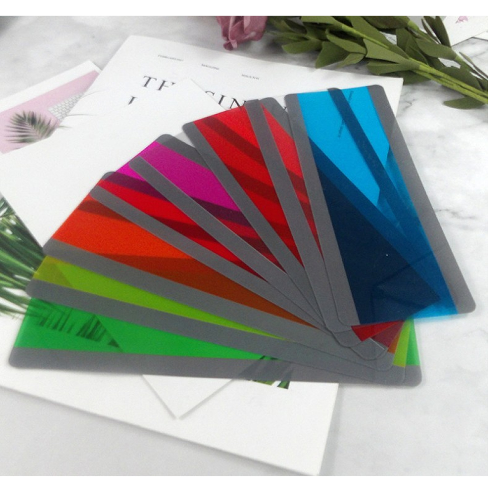 8 Pcs/Pack Large Size Guided Reading Strips Highlight Colored Overlays Colorful Bookmark Reading Tracking Rulers For Dyslexics