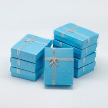 12pcs Cardboard Pendant Necklaces Boxes for Valentines Day Presents Packages with Bowknot, Size: about 9x7x3cm