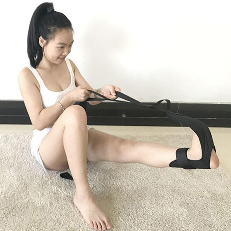 Эластичный растягивающийся ремень для йоги, растягивающийся ремень для балета, танцев, гимнастики, тренажер для йоги, эластичный ремень для...