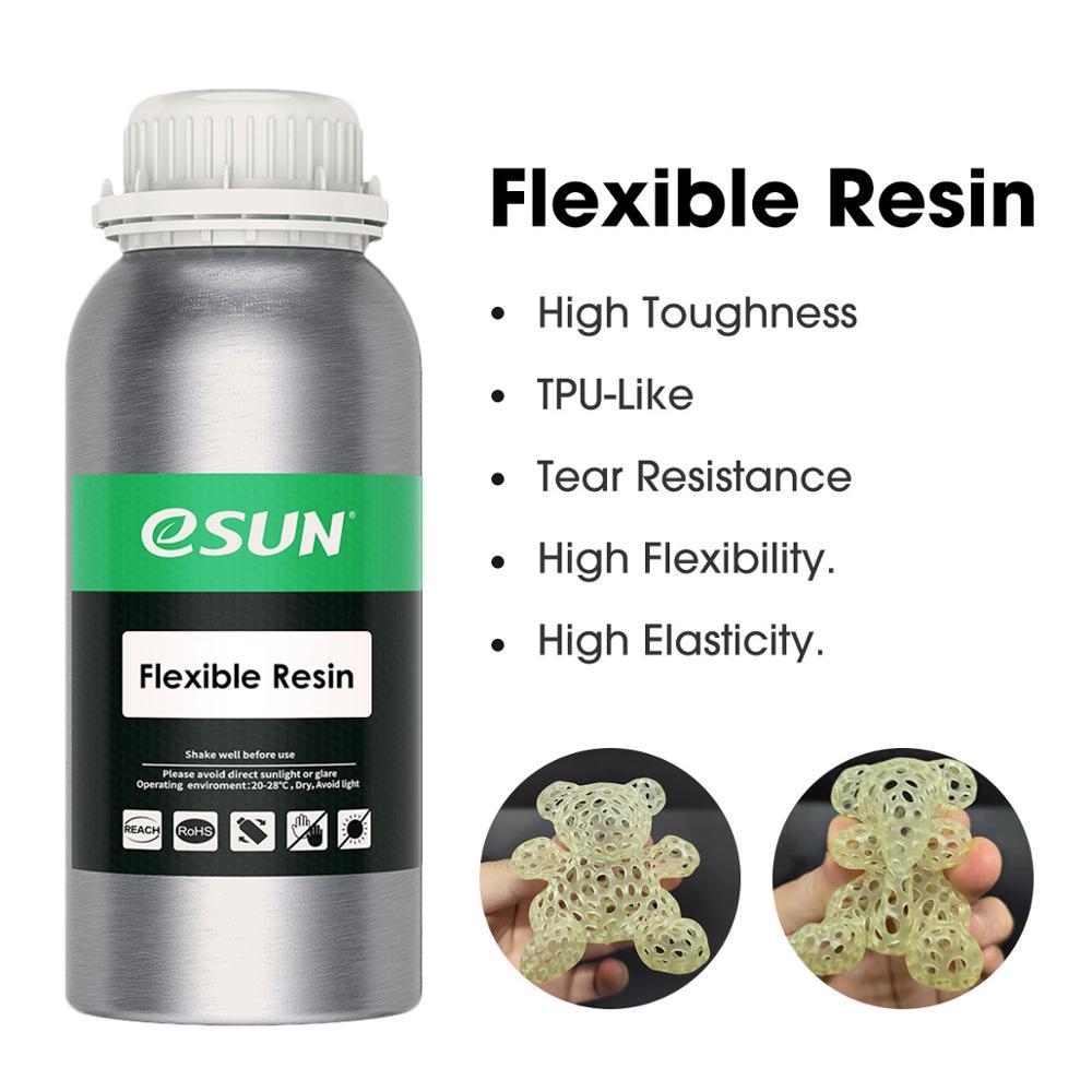 ESUN LCD Impressora UV 405nm TPU-Como a Resina 3D Resina Flexível para Photon Cura UV LCD 3D Fotopolímero Impressora líquido 3D Resina 500g