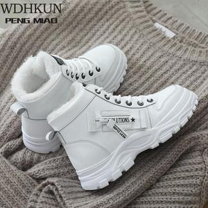 Women Winter Snow Boots 2020 New Fashion Style High-top Shoes Casual Woman Waterproof Warm Woman Female High Quality White Black