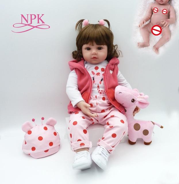 55 CENTIMETRI full body molle del silicone dimensione reale del bambino reborn ragazza del bambino della principessa bambola giocattolo del bagno Bonecas ragazza menina de silicone