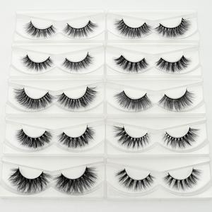 Image 2 - Visofree yanlış göz lashes el yapımı doğal sahte kirpikler makyaj glitter ambalaj 1 çift kutu makyaj seksi 3D vizon lashes D01