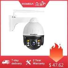 Inqmega ptz ip câmera de rastreamento automático 1080 p 2mp ao ar livre à prova dwaterproof água mini câmera dome velocidade ir 30 m p2p câmera de segurança em casa