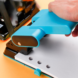 Heavy 2-hole Punch Paper Cutter Loose-leaf Punch 70mm 80mm Adjustable Hole Pitch 70Sheets Capacity Diy Office Binding Stationery
