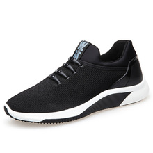 New 2018 Fashion Black Flyknit Shoes Lace Up Breathable Men's Sneakers Men Casual Shoes Flats Loafers Driving Shoes E0212 цена 2017