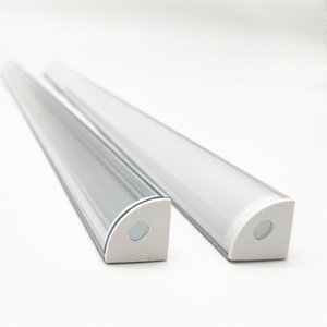 Image 2 - 1 30pcs 50cm LED Bar Light Housing V Shape Triangle Aluminum Profile Mikly Clear Cover Connector Clip Channel for 12mm PCB Strip