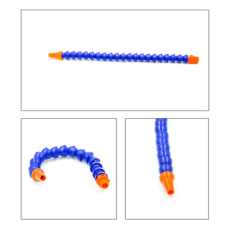1 Piece Flexible Oil Coolant Pipe 300mm 1/4 Round Nozzle Water Cooling Flexible With Plastic Pipe